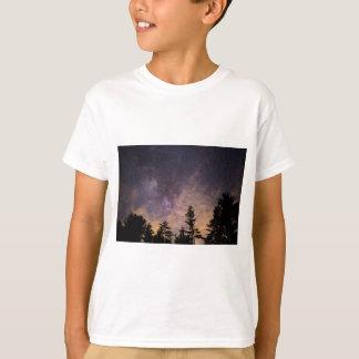 Camiseta Silhueta das árvores na noite