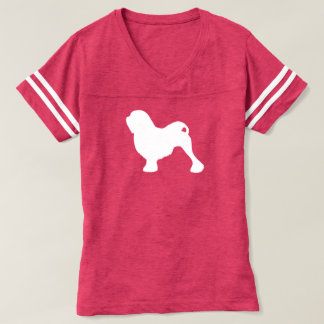 Camiseta Silhueta de Lowchen