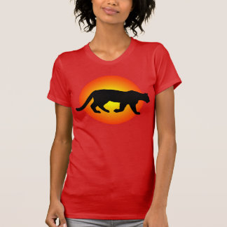 Camiseta Silhueta de Sunfire do puma do puma do leão de