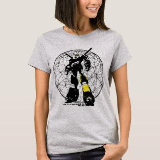 Camiseta Silhueta de Voltron   sobre o mapa