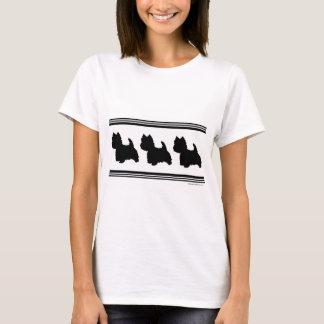 Camiseta Silhueta de Westie
