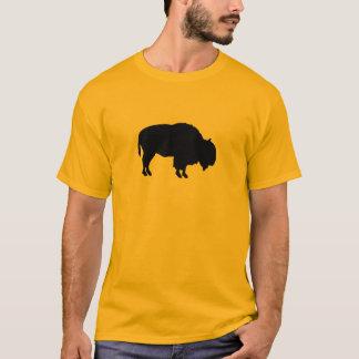 Camiseta Silhueta do búfalo