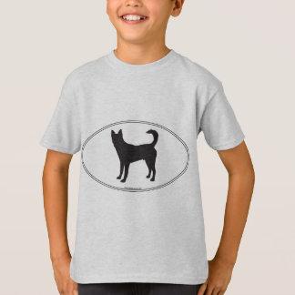 Camiseta Silhueta do cão de Canaan
