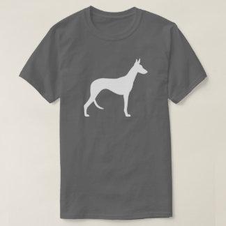 Camiseta Silhueta do cão de Ibizan