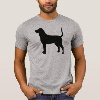 Camiseta Silhueta do Coonhound de Bluetick