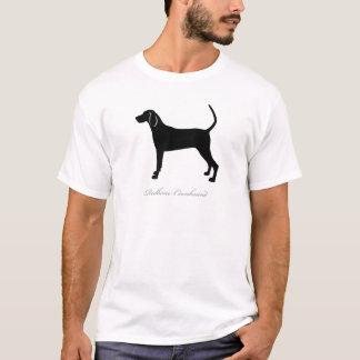 Camiseta Silhueta do Coonhound de Redbone