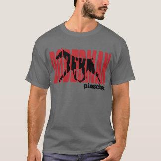 Camiseta Silhueta do Doberman, movendo-se