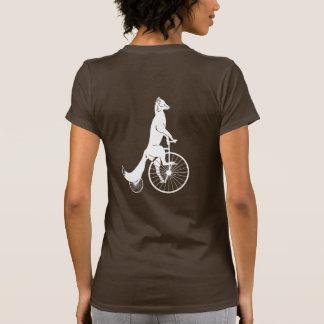 Camiseta Silhueta do Fox que monta uma bicicleta