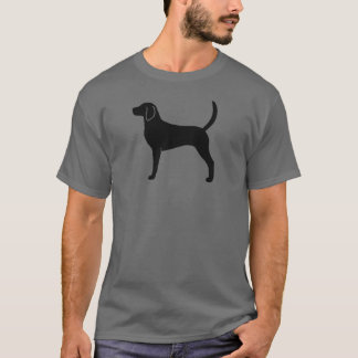 Camiseta Silhueta do Foxhound inglês
