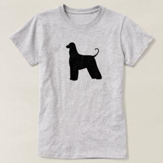 Camiseta Silhueta do galgo afegão