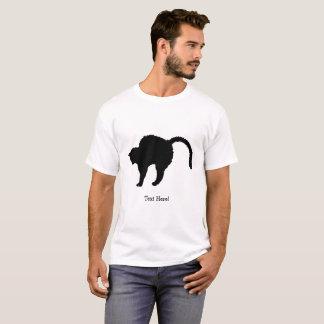 Camiseta silhueta do gato