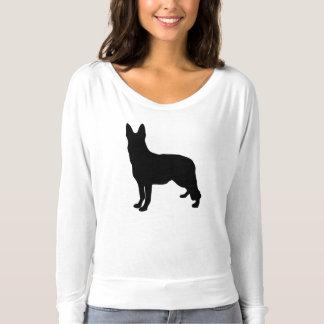 Camiseta Silhueta do german shepherd