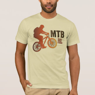 Camiseta Silhueta do motociclista da montanha, suor do