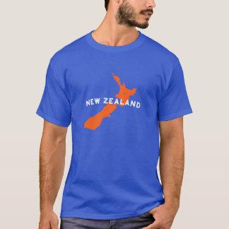 Camiseta Silhueta do país de Nova Zelândia