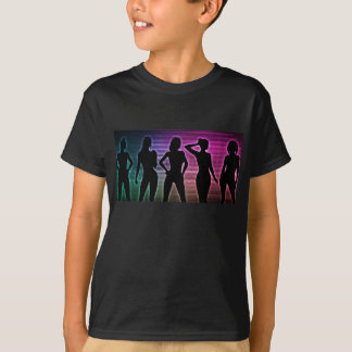Camiseta Silhueta do partido da praia das mulheres que