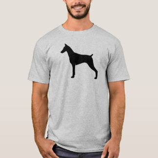 Camiseta Silhueta do Pinscher do Doberman