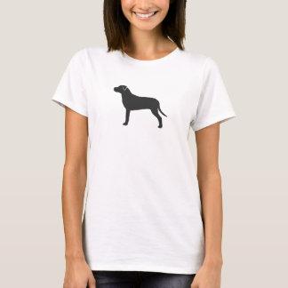 Camiseta Silhueta do pitbull