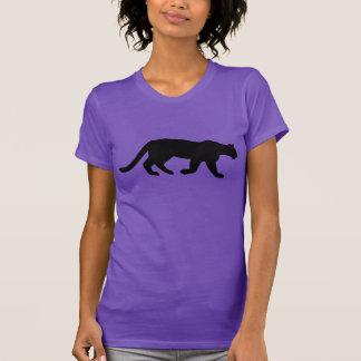 Camiseta Silhueta do puma do leão de montanha