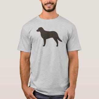 Camiseta Silhueta do Retriever de baía de Chesapeake