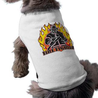 Camiseta Silhueta do sapador-bombeiro