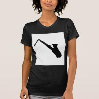 Camiseta Silhueta do saxofone