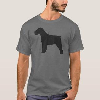 Camiseta Silhueta do Schnauzer com orelhas naturais