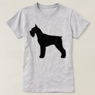 Camiseta Silhueta do Schnauzer gigante