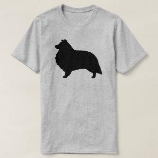Camiseta Silhueta do Sheepdog de Shetland