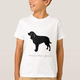 Camiseta Silhueta do Spaniel de água americana