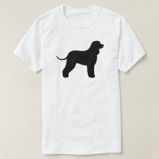 Camiseta Silhueta do Spaniel de água irlandesa