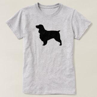 Camiseta Silhueta do Spaniel de campo
