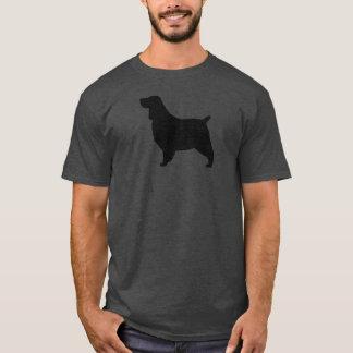 Camiseta Silhueta do Spaniel de Springer inglês