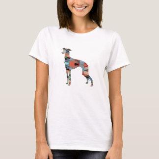 Camiseta Silhueta do teste padrão de Geo do galgo italiano