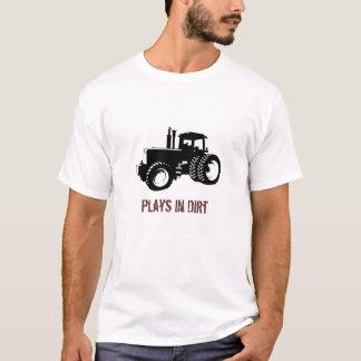 Camiseta Silhueta do trator, jogos na sujeira