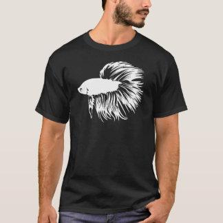 Camiseta Silhueta dos peixes de Betta