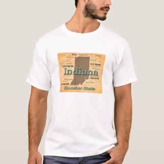 Camiseta Silhueta envelhecida do mapa do orgulho do estado