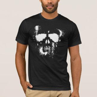 Camiseta Silhueta espectral do crânio do Dia das Bruxas