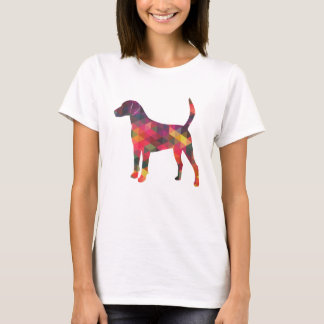 Camiseta Silhueta geométrica colorida do teste padrão do