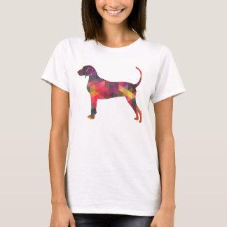 Camiseta Silhueta geométrica do cão do Coonhound de