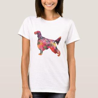 Camiseta Silhueta geométrica do cão do setter inglês -