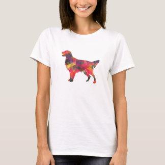Camiseta Silhueta geométrica do cão revestido liso do