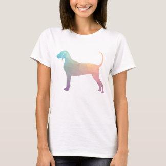 Camiseta Silhueta geométrica do Coonhound de Bluetick nos