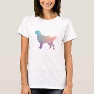 Camiseta Silhueta geométrica do Retriever Liso-Revestido -