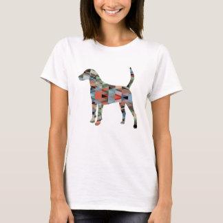 Camiseta Silhueta geométrica do teste padrão do cão de cão