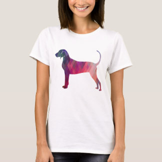 Camiseta Silhueta geométrica do teste padrão do Coonhound