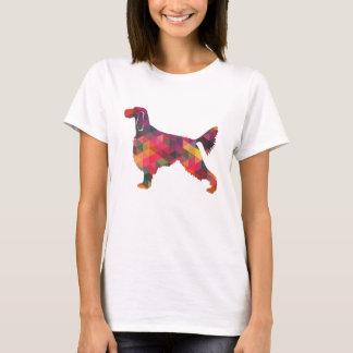 Camiseta Silhueta geométrica do teste padrão do setter de