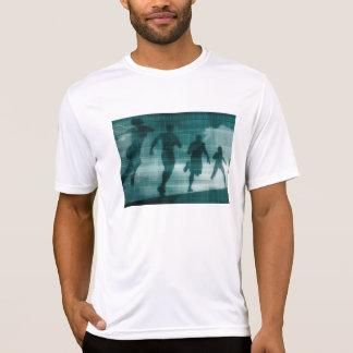 Camiseta Silhueta Illustrati do software do perseguidor do