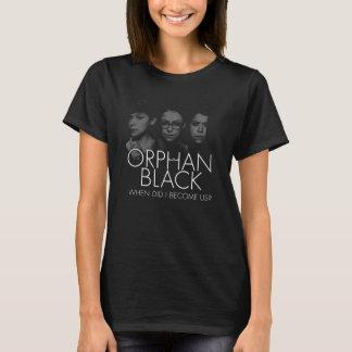 Camiseta Silhueta órfão do preto | três Sestras