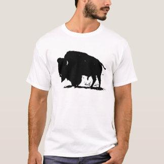 Camiseta Silhueta preta & branca do búfalo