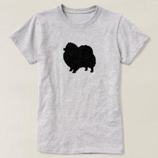 Camiseta Silhueta preta de Pomeranian